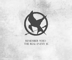 catching fire, enemy, and hunger games image