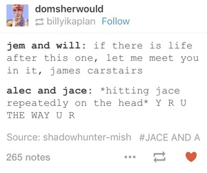 tumblr, jace herondale, and will herondale image
