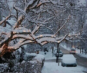 christmas, cold, and snowing image