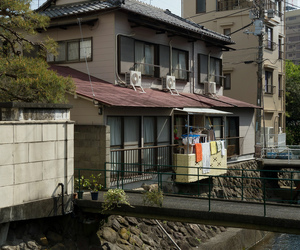 green, house, and japan image