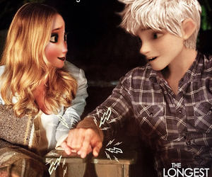 couple, jack frost, and elsa image