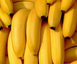 banana, yellow, and food image