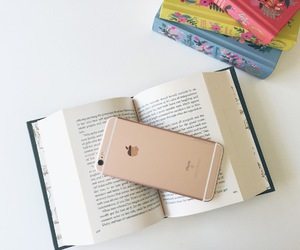 book, iphone, and apple image