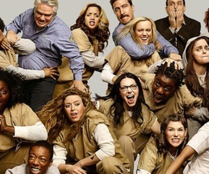 tv show, oitnb, and orange is the new bkack image