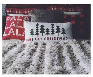 bed, christmas, and red image