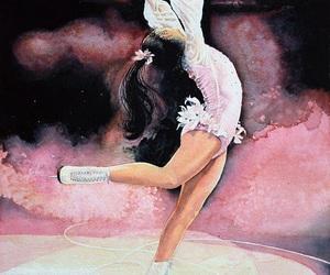 drawing, figure skating, and girl image