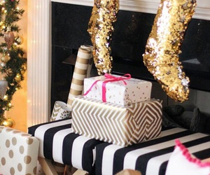 christmas, gold, and luxury image