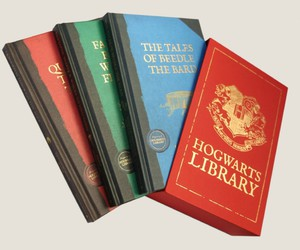 book, harry potter, and hogwarts library image