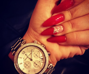 Michael Kors, nails, and red image