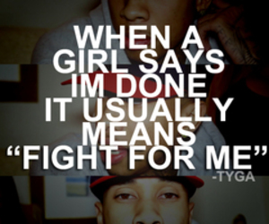 quote, fight, and tyga image