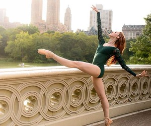 ballet, girl, and point shoes image