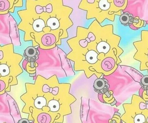 Maggie, simpsons, and wallpaper image