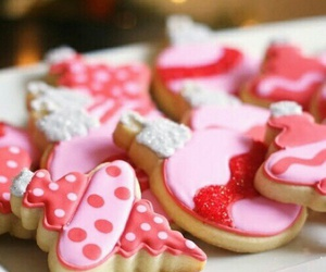 pink, cookie, and food image