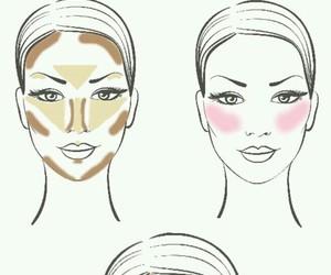 beauty, contour, and makeup image