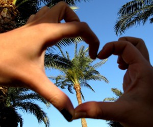 hands, sky, and love image