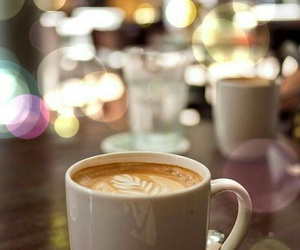 bokeh, coffee, and drink image