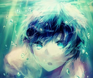 anime, water, and boy image