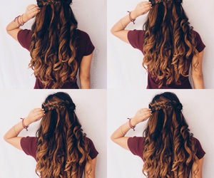 braid, beautiful, and girl image