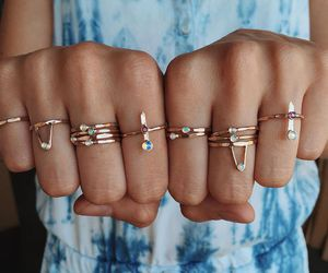 rings, blue, and jewellery image