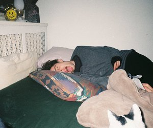 boy, grunge, and bed image