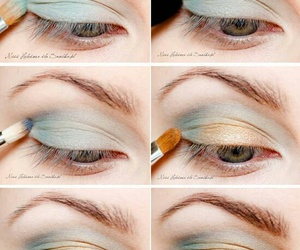 eyes, makeup, and pinterest image