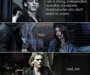funny, shadowhunter, and the mortal instruments image