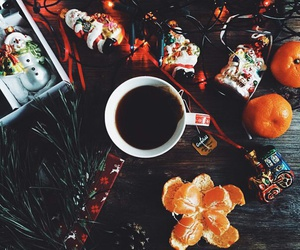 christmas, coffe, and cozy image