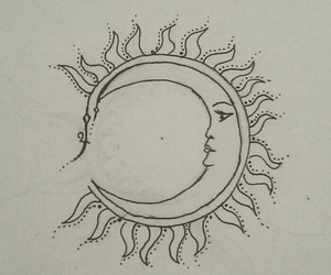 drawing, happy, and moon image