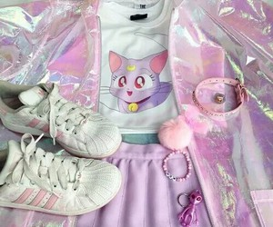 pink, outfit, and sailor moon image