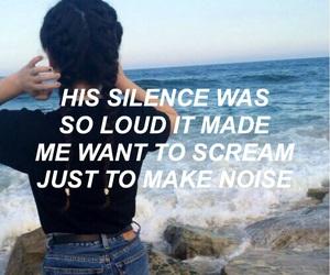 silence, scream, and loud image
