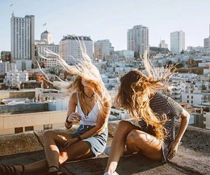 friends, hair, and city image