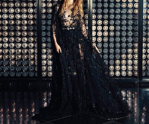 black, dress, and n image