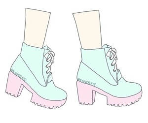 overlay, boots, and pastel image
