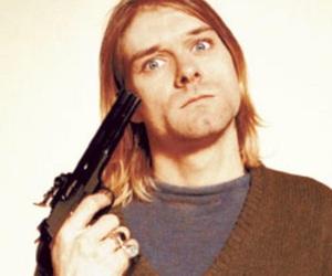 gun, kurt cobain, and nirvana image