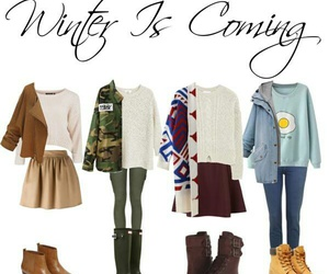 outfits, winter, and four girl image
