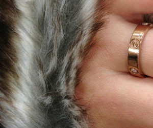 cartier, faux fur, and grunge image