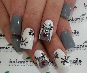 nails, christmas, and white image