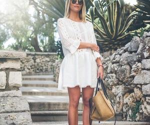 dress, girl, and sunglasses image