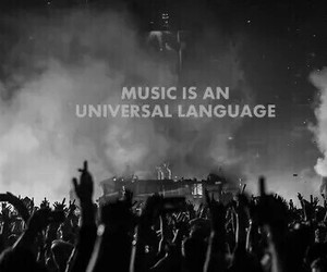 music, concert, and language image