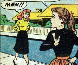 men, comic, and vintage image