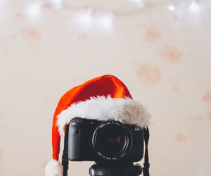 camera, santa claus, and 100 happy days image