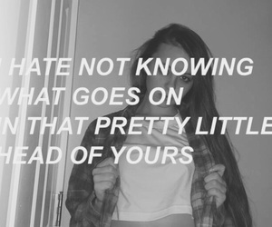 black and white, grunge, and quote image