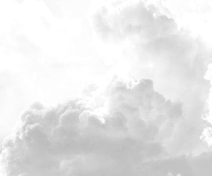 clouds, sky, and white image