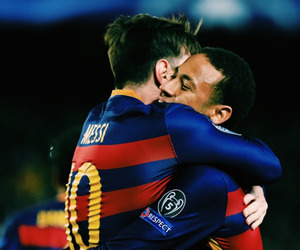 leo messi, fc barcelona, and neymar image