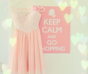dress, pink, and shopping image