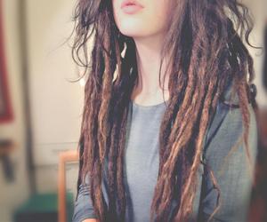 girl, hair, and dreadlocks image