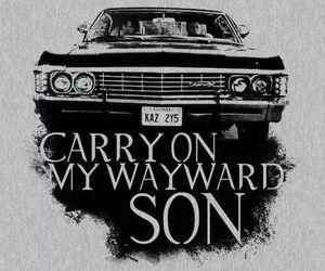 supernatural, impala, and dean image