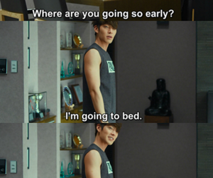 bed, funny, and korean image