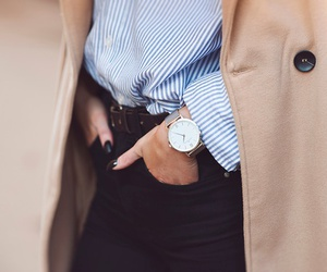coat, elegant, and watch image