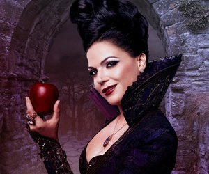 evil queen, apple, and once upon a time image